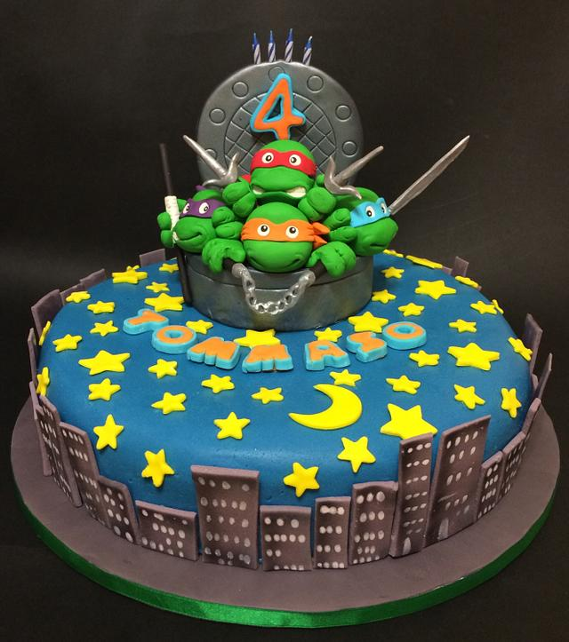 Astounding Ninja Turtles Birthday Cake Cake By Davide Minetti Cakesdecor Funny Birthday Cards Online Fluifree Goldxyz