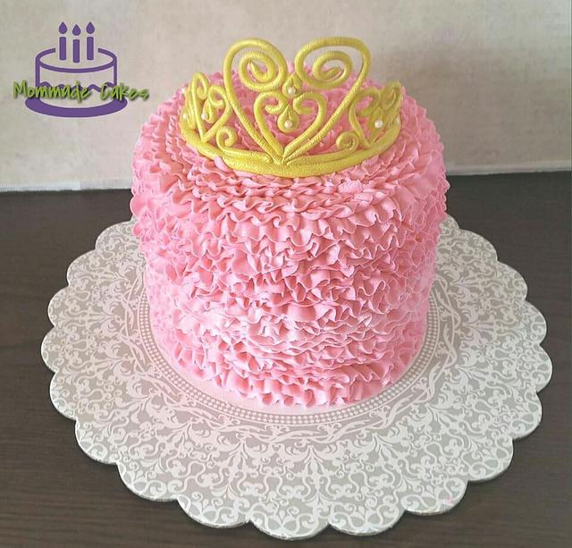 Frilly princess cake