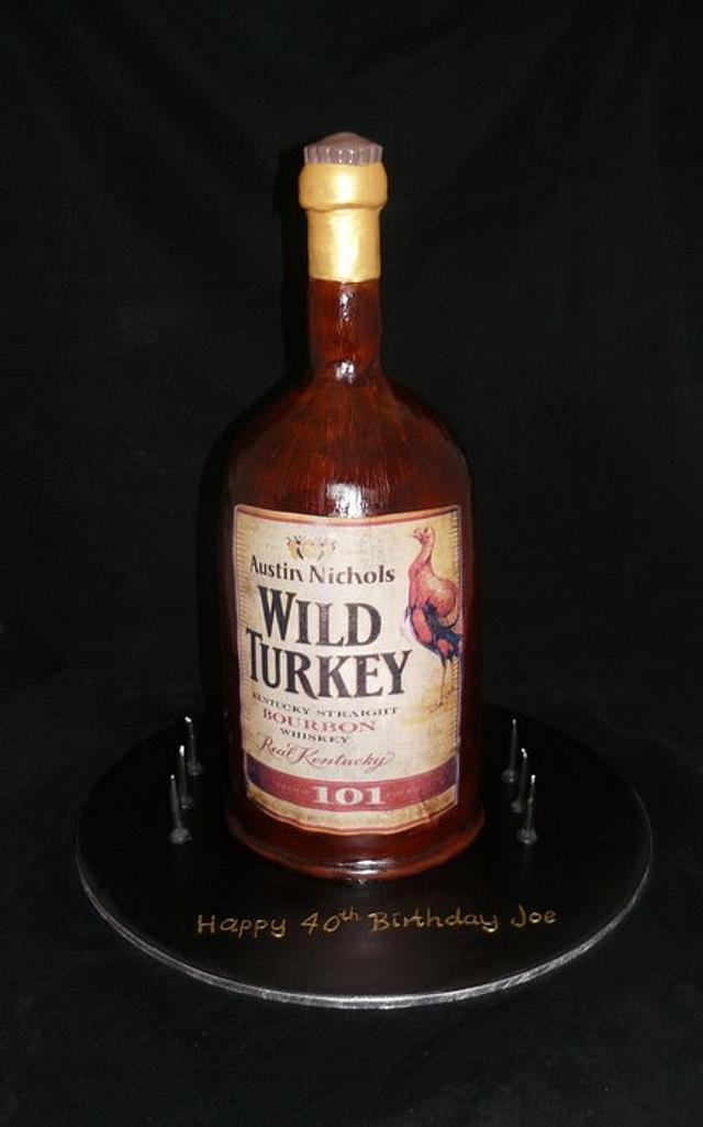 3d wild turkey bottle