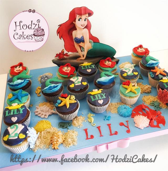 Little Mermaid Cupcakes 🐬🐠🐙💙💙
