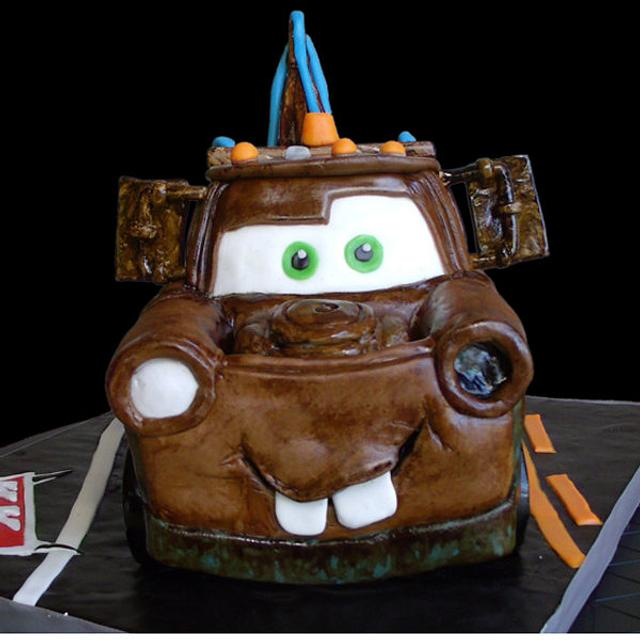 Brilliant 3D Tow Mater Cars Cake Cake By Katie Goodpasture Cakesdecor Funny Birthday Cards Online Alyptdamsfinfo