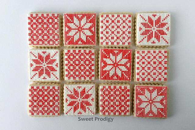 Patchwork Needlepoint Cookies