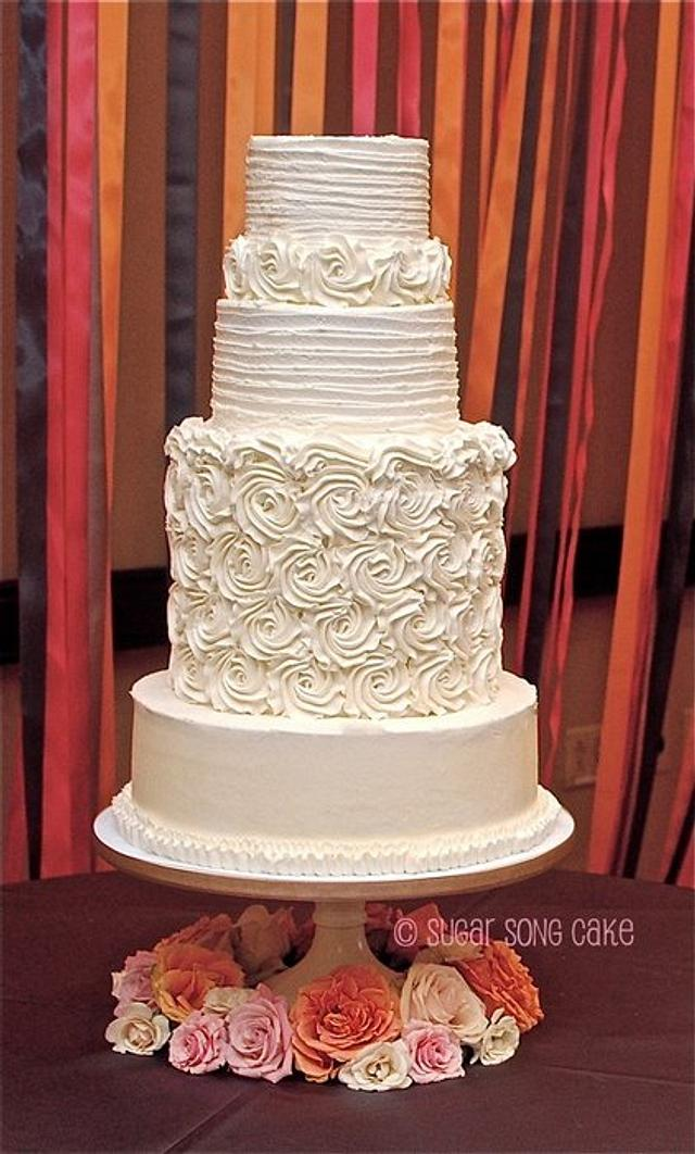 Rosette Couture Wedding Cake