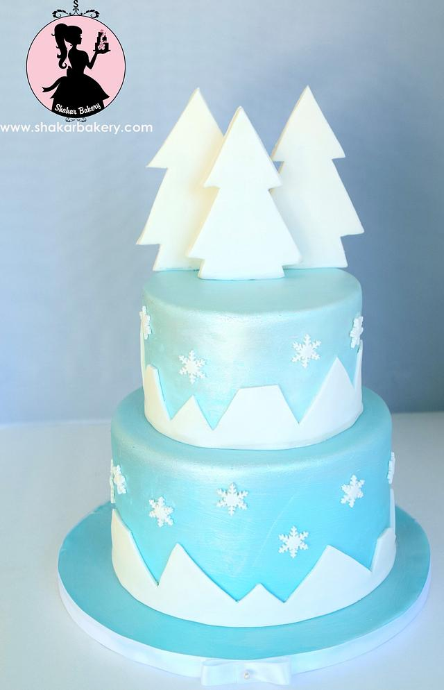 Strange Winter Themed Birthday Cake Cake By Shantal Cakesdecor Funny Birthday Cards Online Elaedamsfinfo
