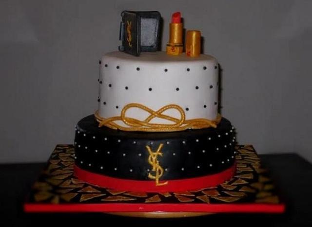 Yves Saint Lauret fashion cake