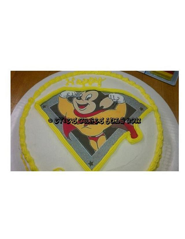 My hubby's Mighty Mouse Cake