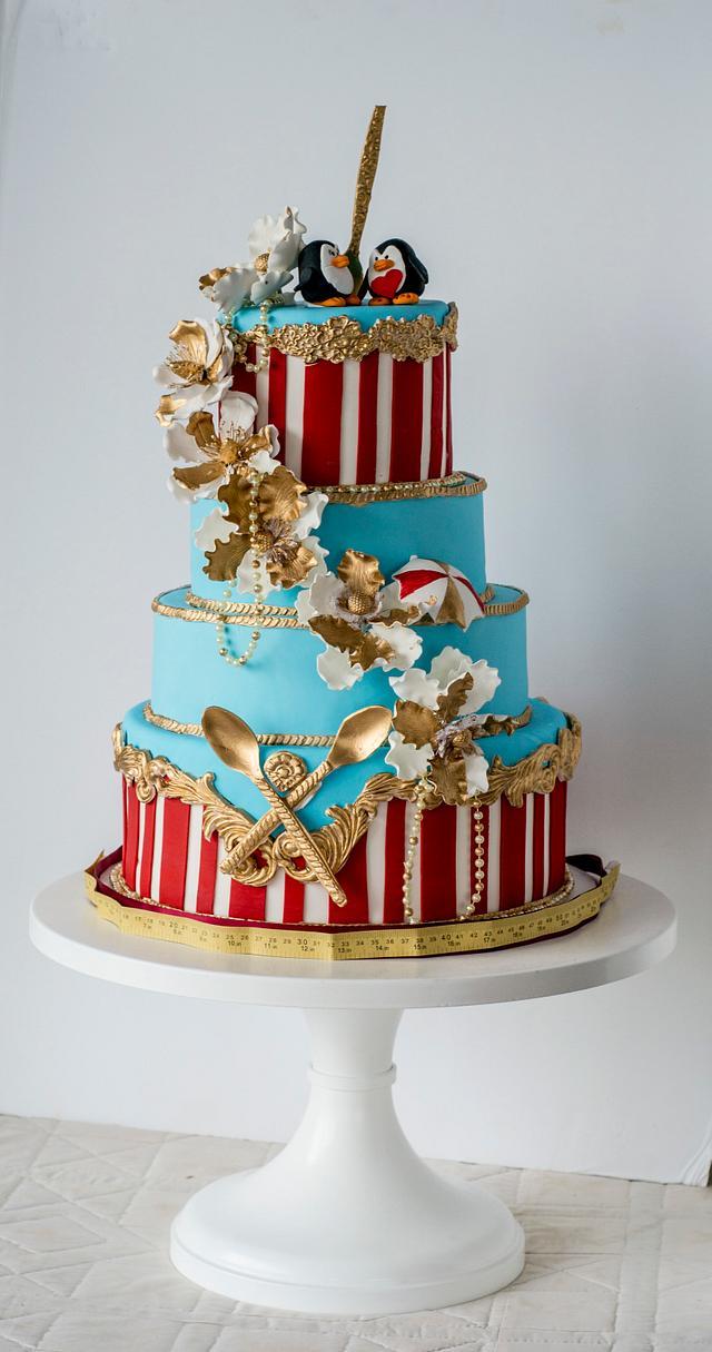 Mary Poppins Wedding Cake