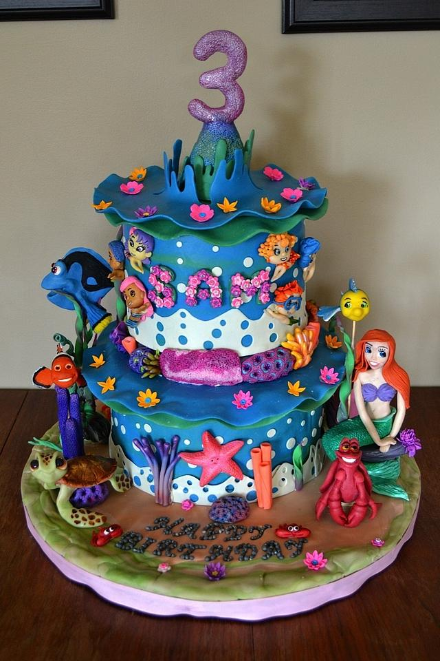 Cool Under The Sea Birthday Cake Cake By Tracy Karp Cakesdecor Funny Birthday Cards Online Eattedamsfinfo