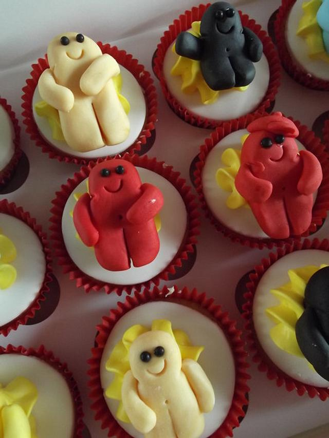 Jelly baby cupcakes