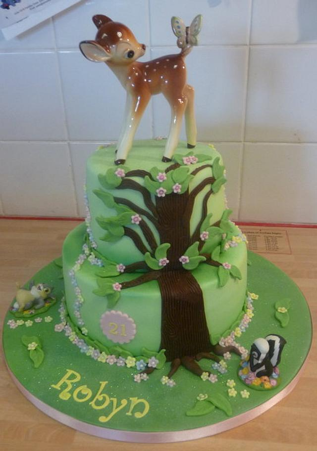 Bambi Theme 21st Birthday Cake