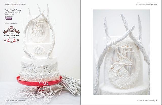 White Christmas Wedding Cake for Cake Central volume7 Issue5