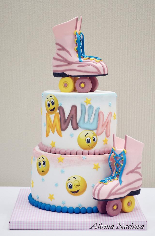 Roller Skates Birthday cake
