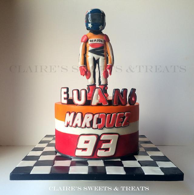 Marc Marquez theme birthday cake