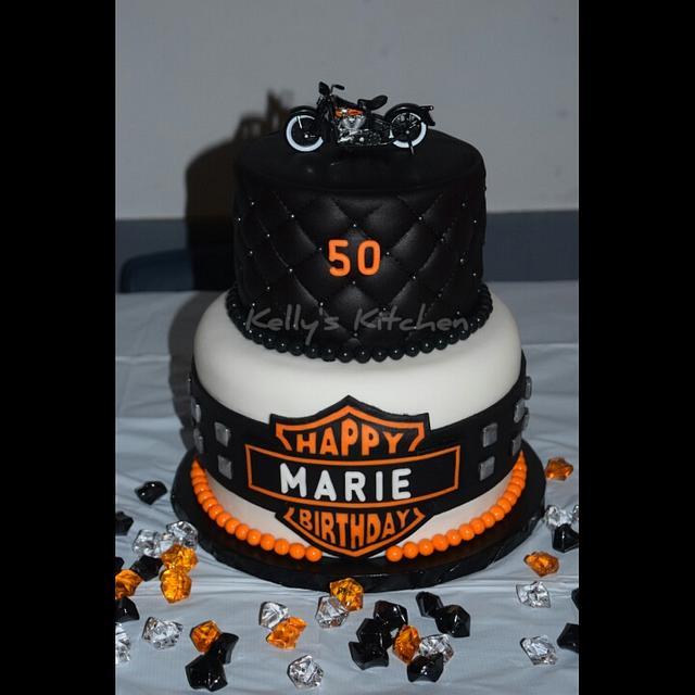 Harley Davidson Birthday Cake Cake By Kelly Stevens