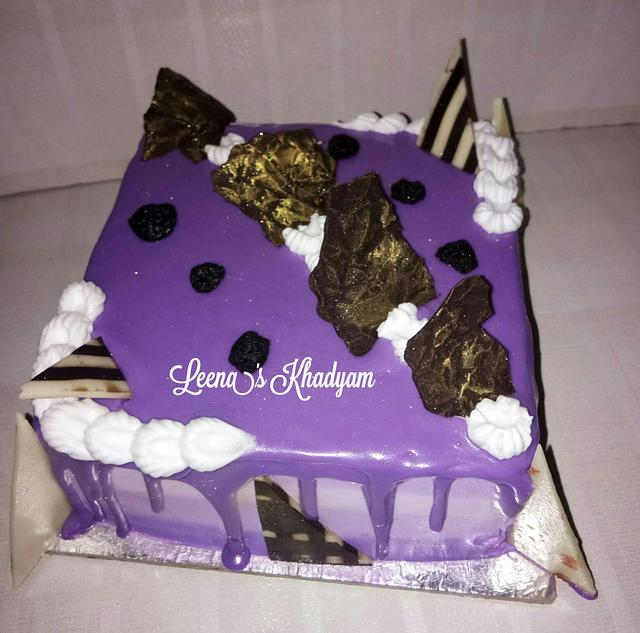 Blueberry Cake with Chocolate garnishes