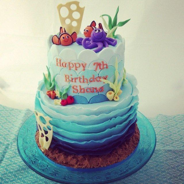 Tremendous Under The Sea Birthday Cake Cake By Priscillas Cakes Cakesdecor Funny Birthday Cards Online Eattedamsfinfo
