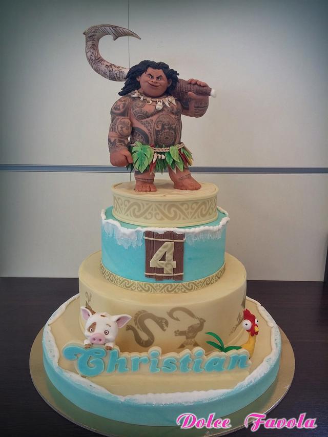 Maui by Oceania( moana ) cake.