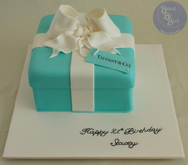Swell Tiffany Co Theme Birthday Cake Cake By Baked By Beck Cakesdecor Funny Birthday Cards Online Fluifree Goldxyz