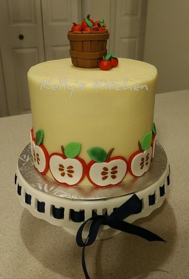 Apple themed cake