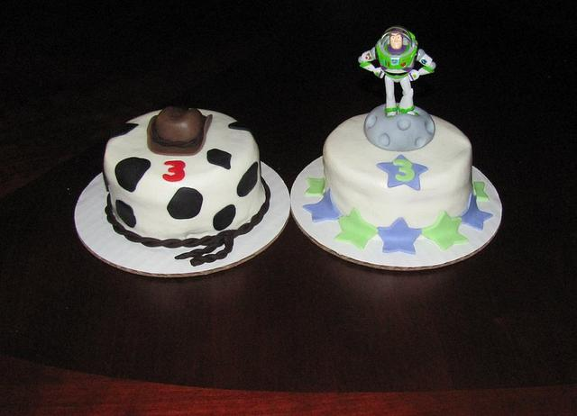 Woody and Buzz Mini Cakes