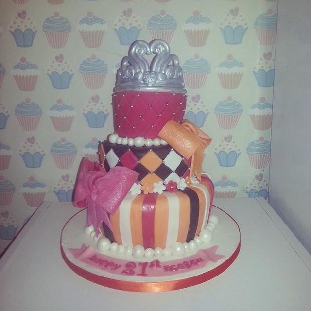 21st Glamour cake