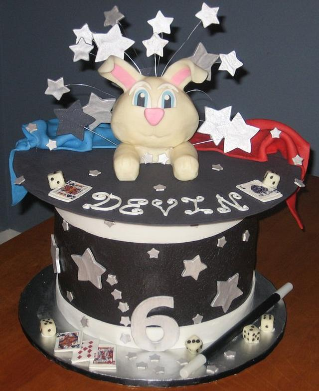 Magic Rabbit Hat Birthday Party Cake