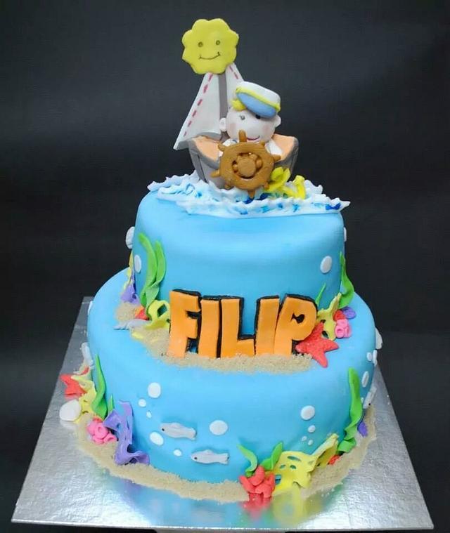 Super Navy Birthday Cake Cake By Torte Sweet Nina Cakesdecor Funny Birthday Cards Online Fluifree Goldxyz