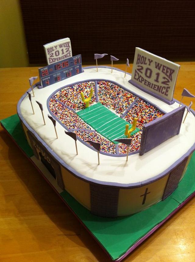 Holy Week Stadium Cake