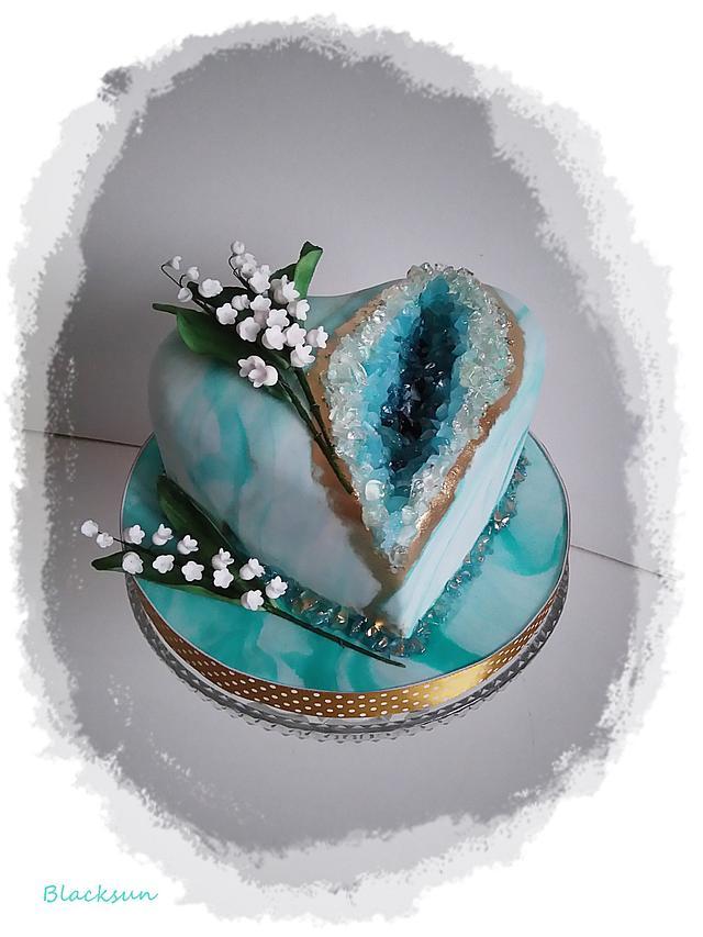 My first geode cake