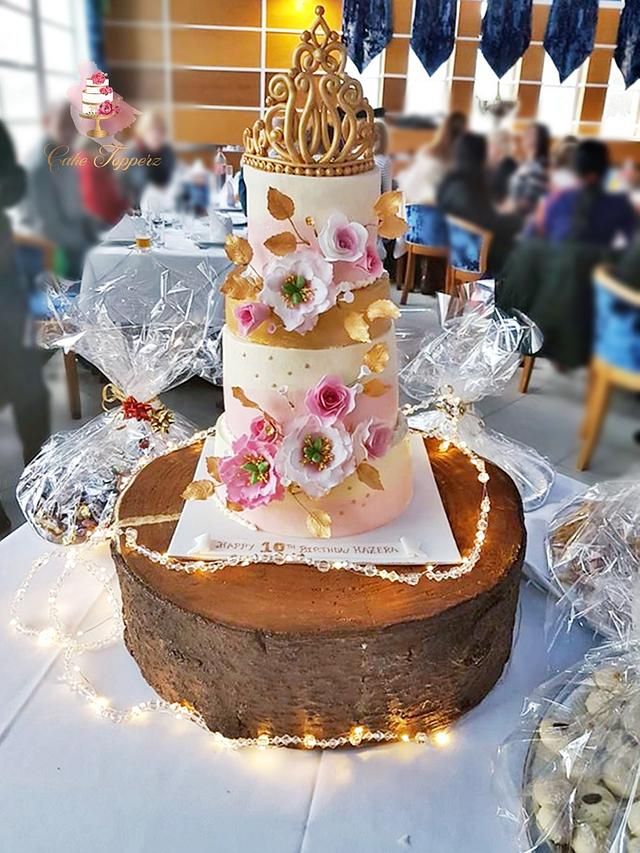 Tiara Theme Birthday cake..