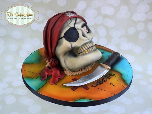Pirate Skull Cake