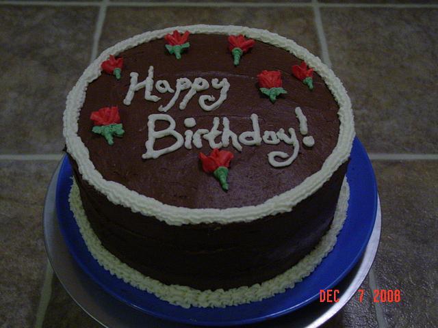 Simple Rose Birthday Cake