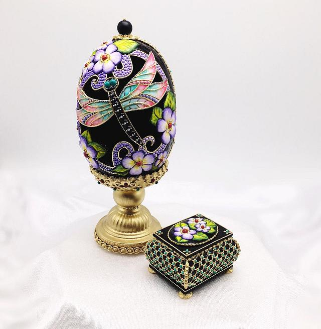 3D Cookie Faberge egg composition