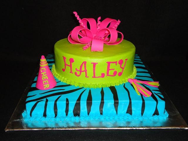 Cheerleader Zebra Cake