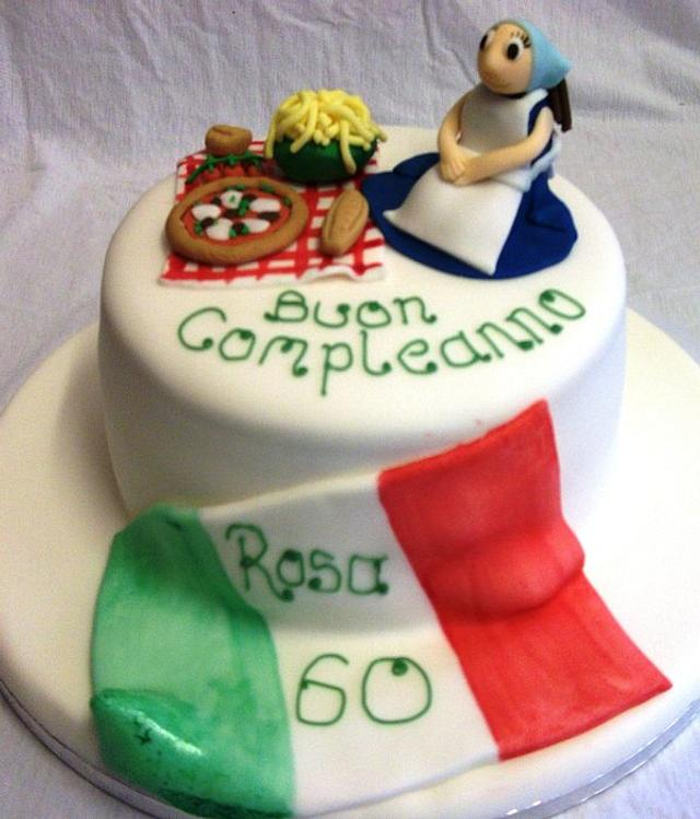 Brilliant Italian Themed Birthday Cake Cake By Muffintops Cakesdecor Personalised Birthday Cards Beptaeletsinfo