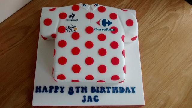 Tour De France king of the mountains shirt x