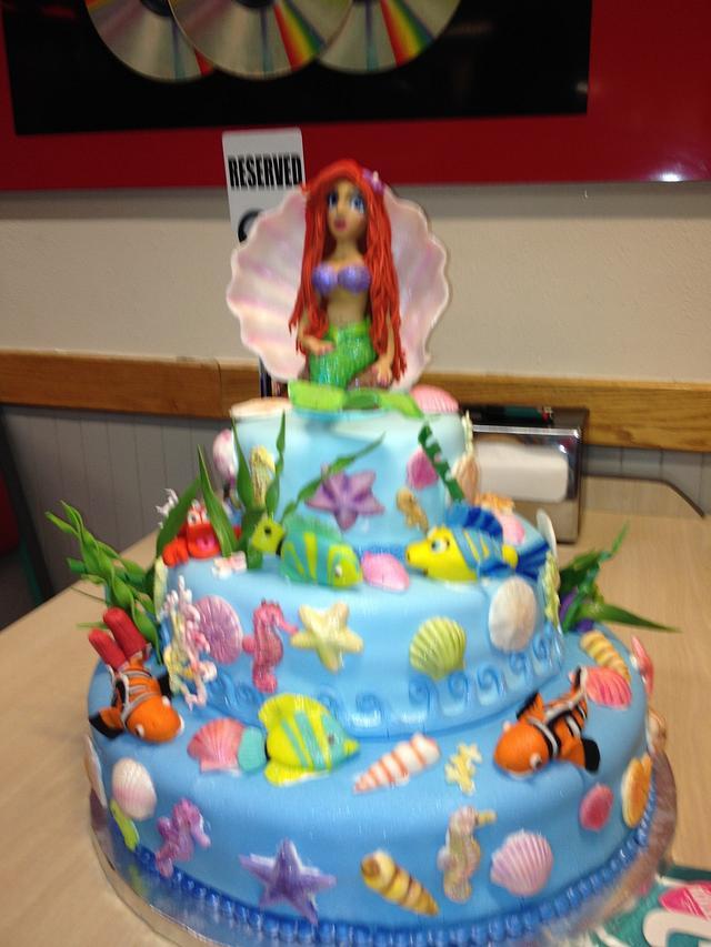 Surprising Little Mermaid Birthday Cake Cake By Chubbyabi Cakesdecor Funny Birthday Cards Online Elaedamsfinfo