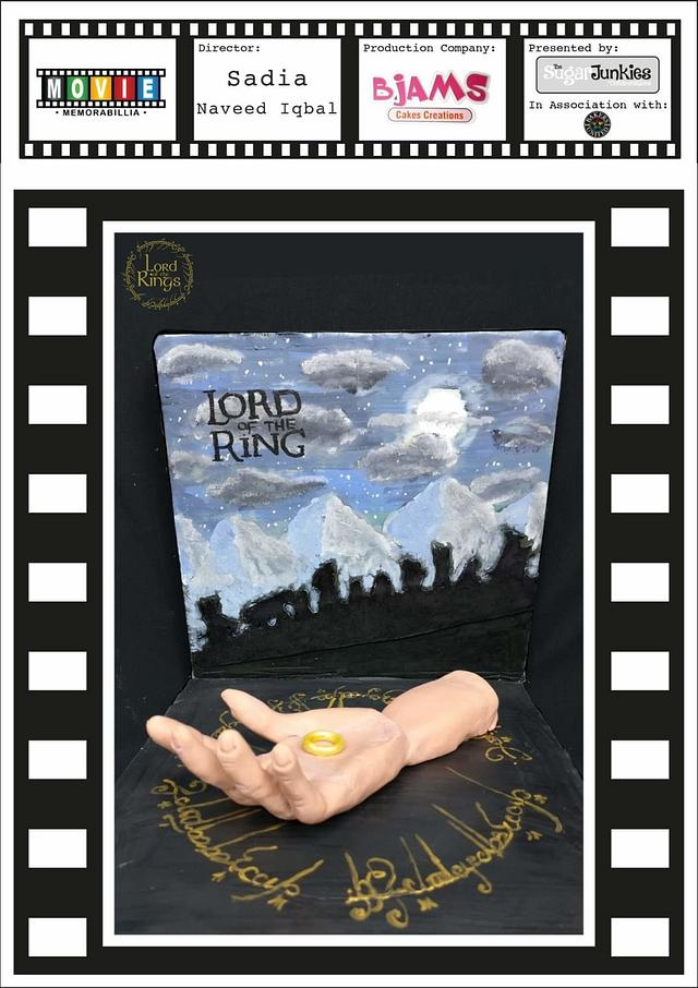 Lords of the rings cake in Movie Memorable cake collaborations