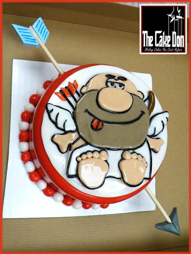 THE SHOT THROUGH THE HEART CAKE