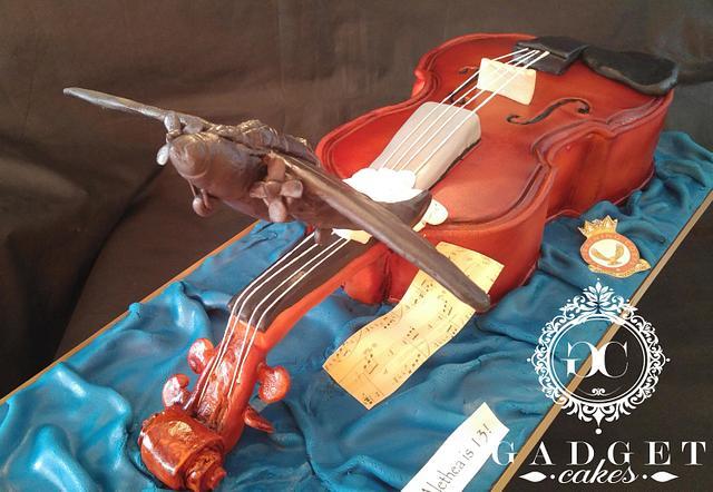 Black widow plane and violin cake!