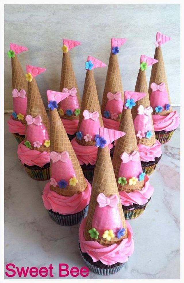 Princess Castle Cupcakes