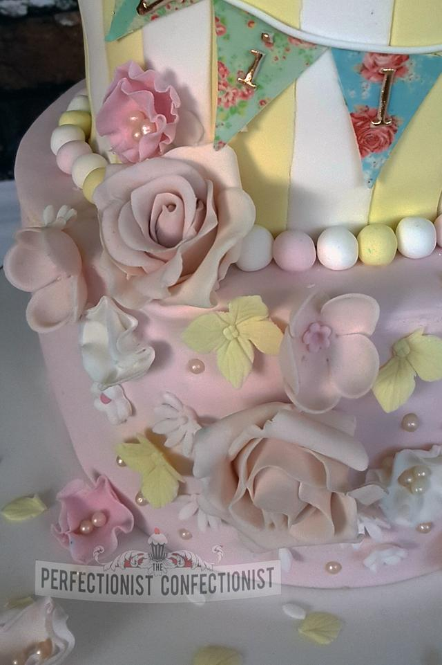 Willow - Bunny First Birthday Cake