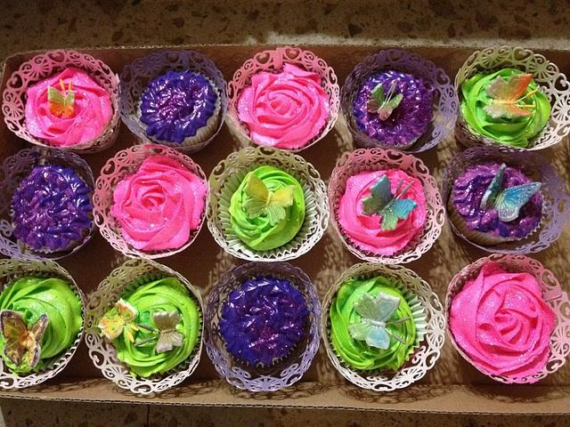 Pleasing Butterfly Cupcakes For A Fancy Nancy Birthday Cake By Cakesdecor Funny Birthday Cards Online Barepcheapnameinfo
