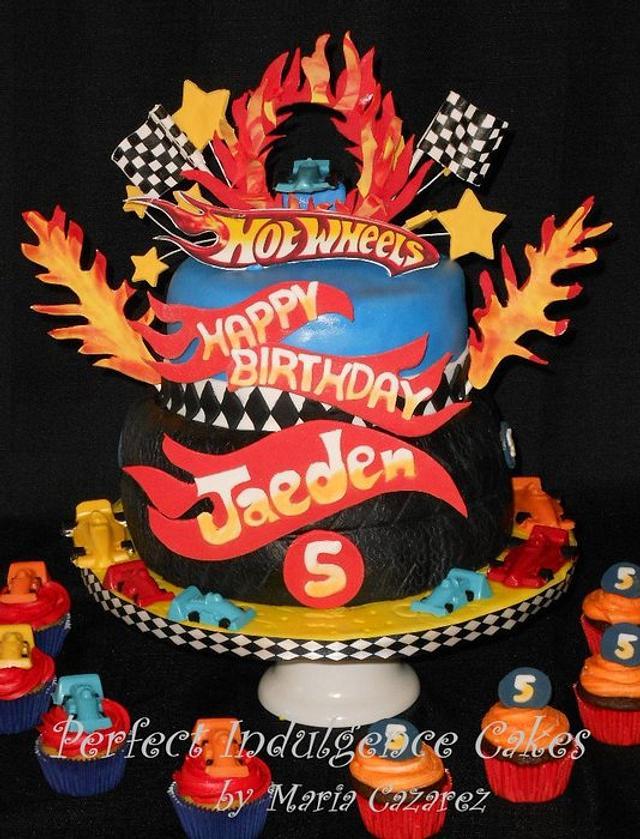 Marvelous Hot Wheels Birthday Cake Cake By Maria Cazarez Cakes Cakesdecor Funny Birthday Cards Online Alyptdamsfinfo