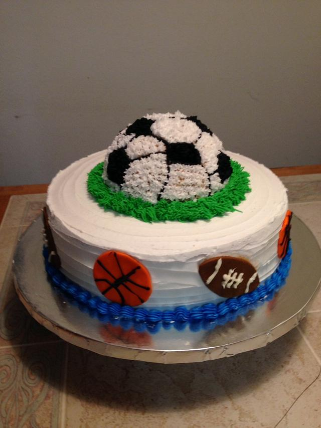 Sports theme cake