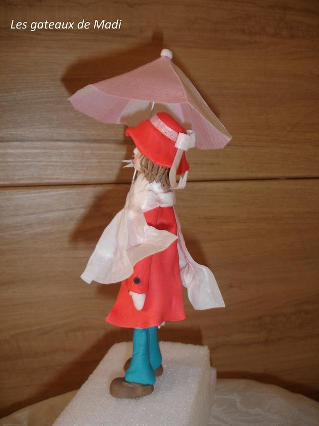 Fille avec parapluie. Girl with umbrella