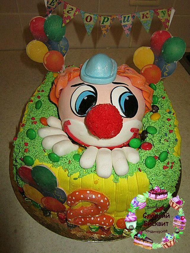 Торт клоун.