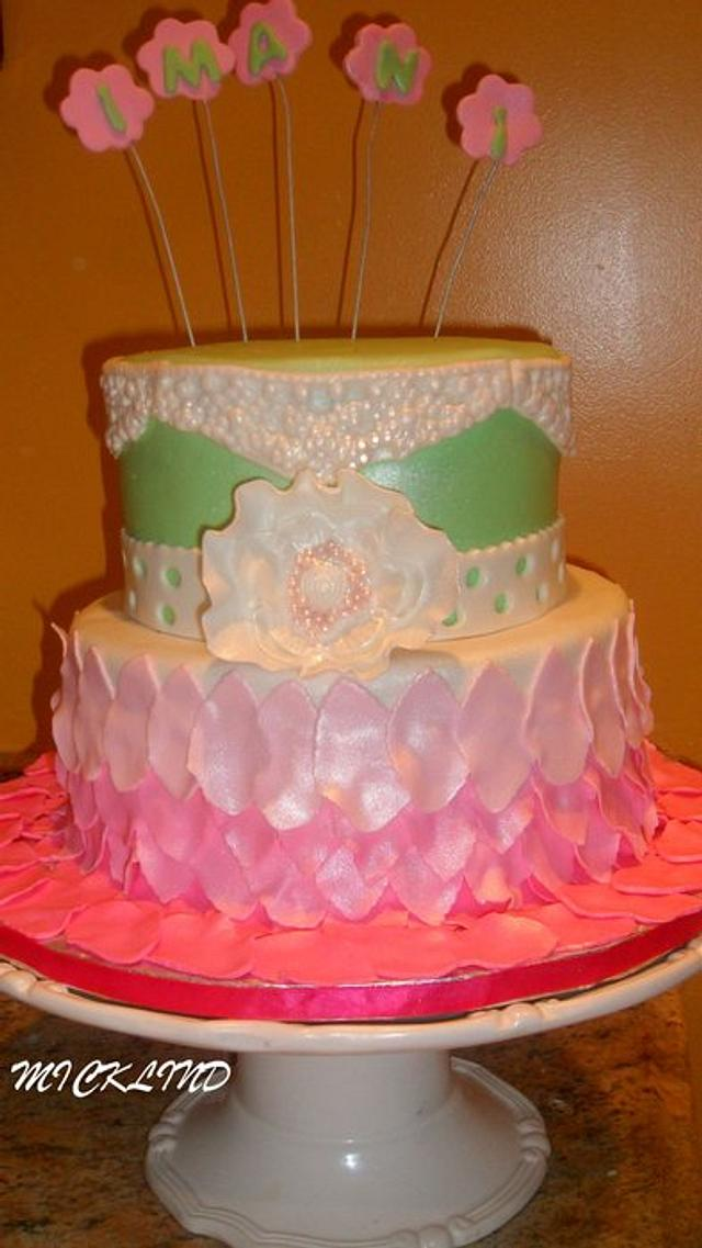 A PRETTY CHRISTENING CAKE