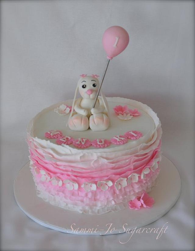 Enjoyable Happy 1St Birthday Cake By Sammi Jo Sweet Creations Cakesdecor Personalised Birthday Cards Sponlily Jamesorg
