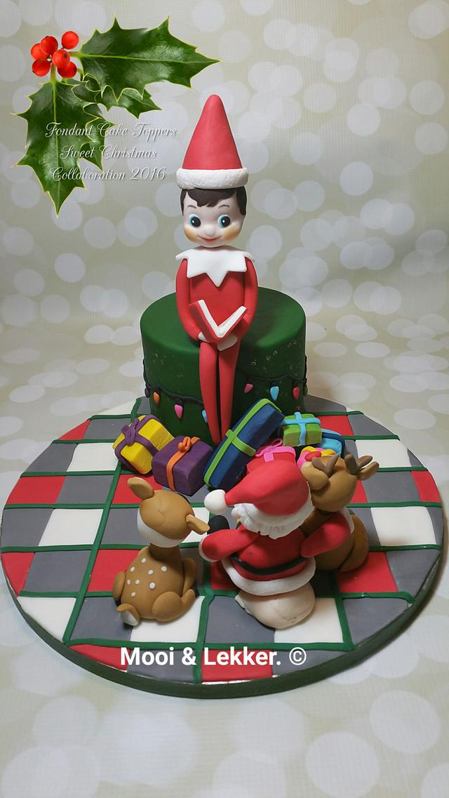 "Fondant cake topper Sweet christmas collaboration 2016 "" Elf on the Shelf """